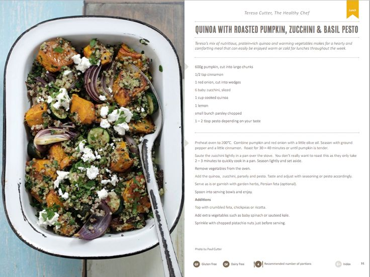 dinner - quinoa with roasted pumpkin, zucchini & basil pesto | food II ...