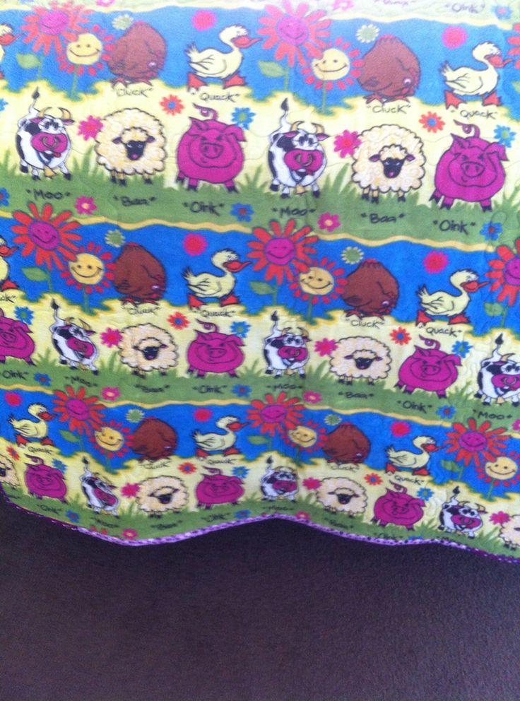 Back of Melbourne quilt