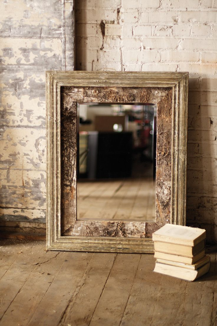 Bring a bit of the outdoors in with this great wooden birch mirror! Would…