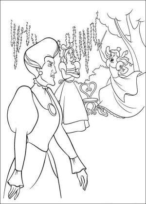Cinderella coloring page 19