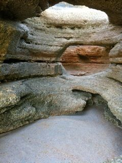 """Coquina caves located at Washington Oaks Gardens State Park. South of St. Augustine, FL"""