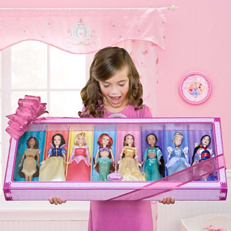 ''Happily Ever After'' Disney Princess Doll 8-Pc. Set -- 11''