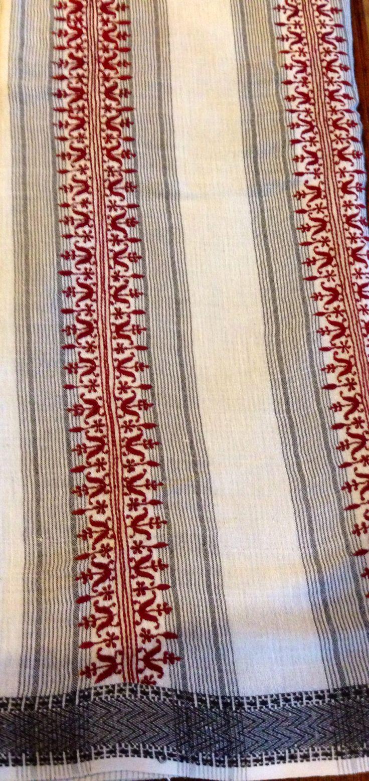 Organic cotton hand spun Khadi with ahimsa silk saree