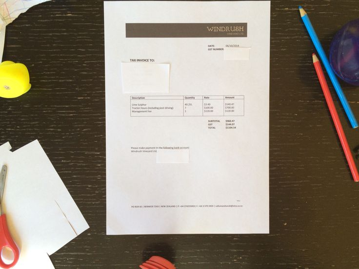 Invoice / letterhead.  Top heavy and could use lots of ink. Simple clean design