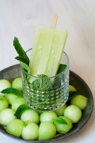 Honeydew, mint, lime popsicles | Baking and Desserts | Pinterest