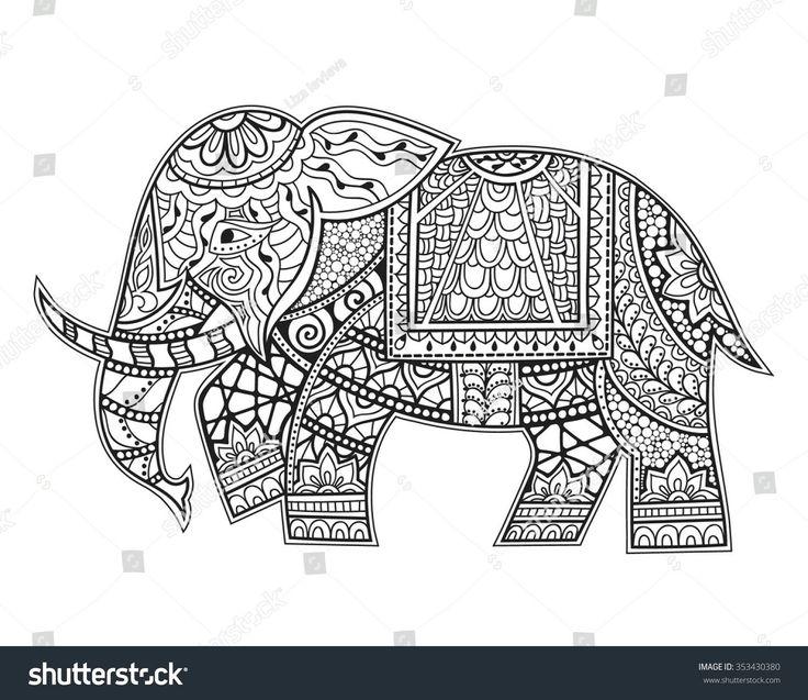 135 Best Coloring Elephants Images On Pinterest