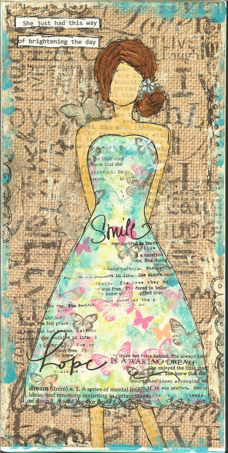 She just had this way of brightening the day.  7x14 mixed media canvas.  Available