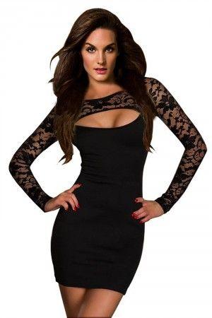 Vestido de encaje, encuentra éste y otros modelos en vestidos de noche cortos aquí...http://www.1001consejos.com/vestidos-de-noche-cortos/