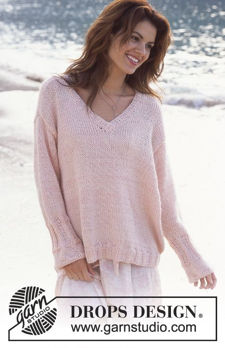 DROPS Pullover in Muskat and Vivaldi Free pattern by DROPS Design.