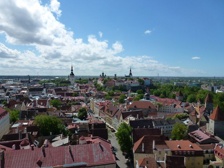 Tallinn - Tallinn wiev from The Sant'Olav Church