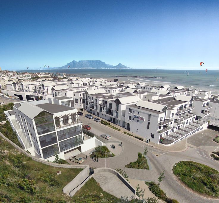 A 3D aerial view of the Big Bay Office Park #architecture #capetown