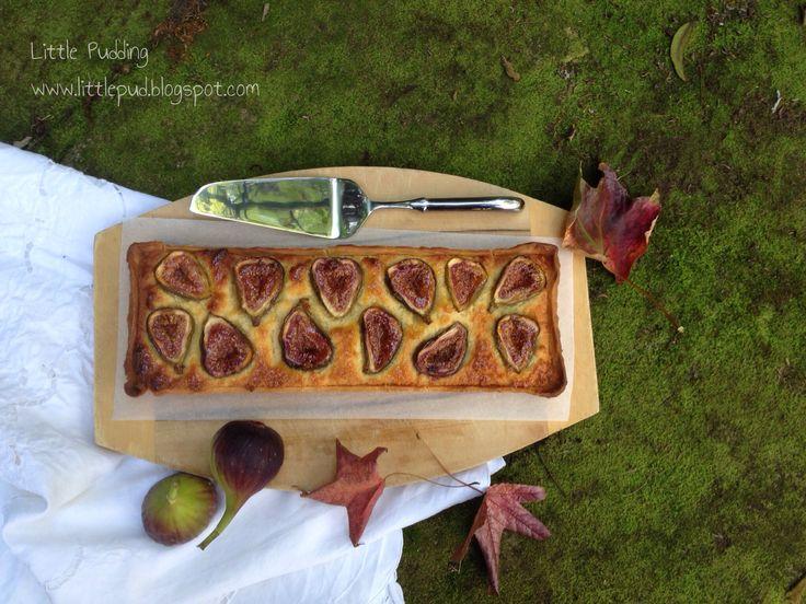 Fig Tart #figtart #fig #frangipane #littlepuddingcakes
