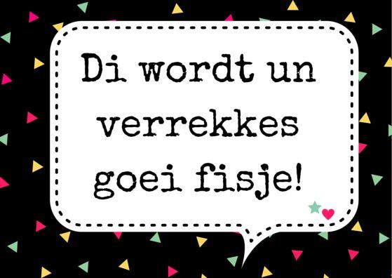"""kaartje uit """"brabantse berichtjes""""kaartenset. #feest #brabants #dialect…"""