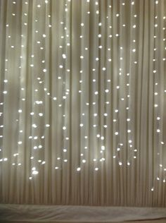 A complete light curtain for a wedding back drop