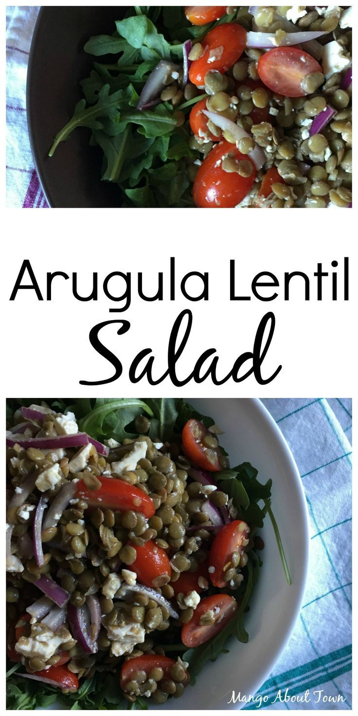 Arugula Lentil Salad | Naturally gluten free, this crowd-pleasing salad is packed full of protein and flavour | Mango About Town