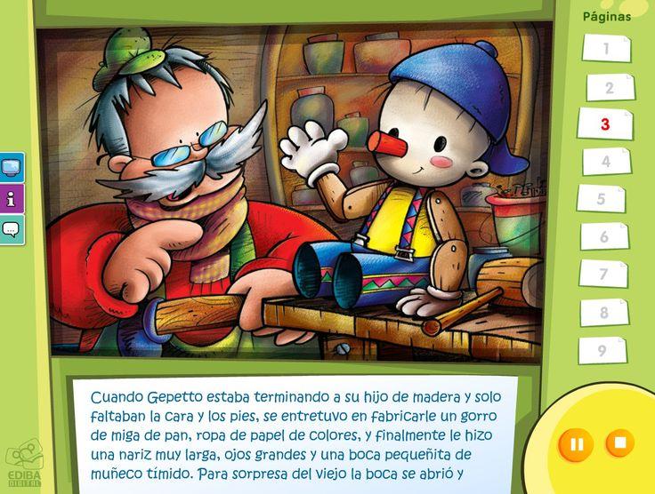 Pinocho - Cuentos clásicos con opción de idiomas y audio en castellano, catalán e inglés