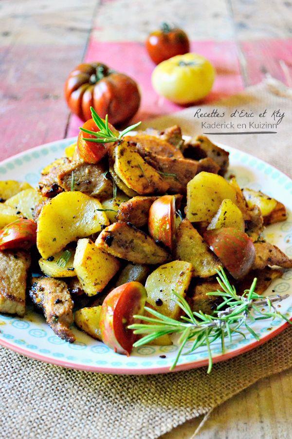 Dégustation sauté porc - Porc mariné citron romarin plancha Eno chez Kaderick en Kuizinn