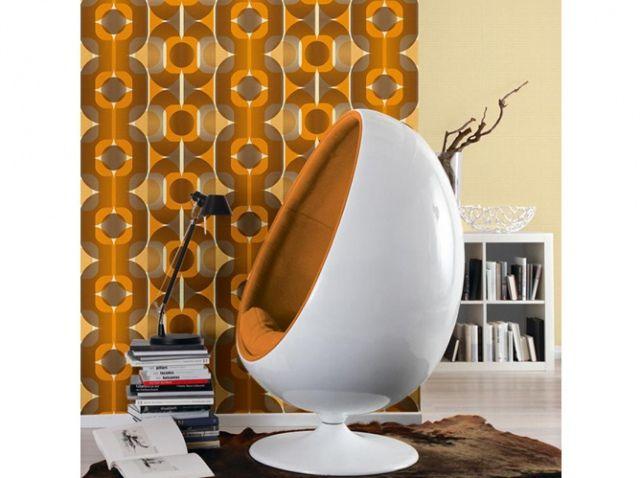 tendance vive les ann es 70 papiers peints papier. Black Bedroom Furniture Sets. Home Design Ideas