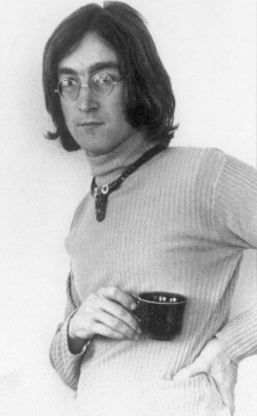 John Lennon drinking coffee #classic #blackandwhite