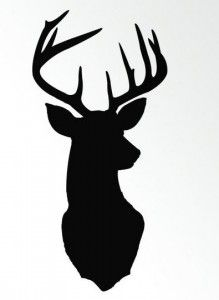 Free deer head silhouette! Gives me an idea for an art project!
