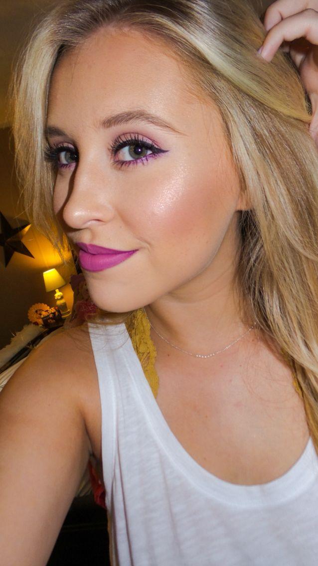 "purples. MAC ""heroine"" lipstick."