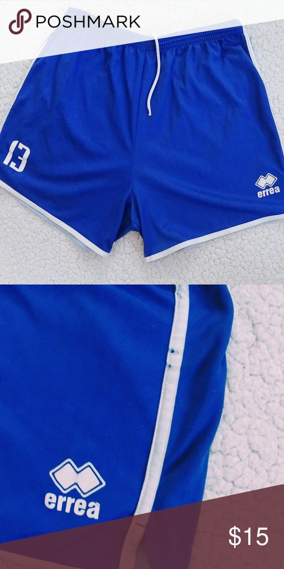Men's 🇫🇷 French National Team Volleyball Shorts Official shorts from the French Volleyball National. From the famous Italian volleyball brand Errea, also the official brand of the French National Team. They're number 13, they've been worn and have some signs of wear (see second picture) but still good and comfy. Shorts Athletic