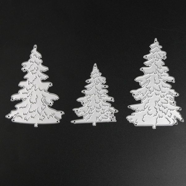 Christmas Tree Metal Cutting Die Stencil Scrapbooking Embossing Decor Photo Album Paper Card Craft Making