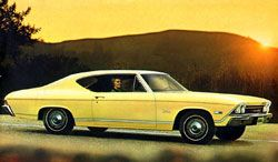 yellow 1968 chevelle parts