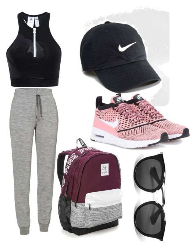 """Untitled #180"" by jessieeev on Polyvore featuring adidas, Icebreaker, NIKE, Victoria's Secret and Prada"