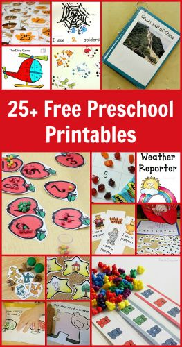Over 25 free preschool printables - I think they'd be wonderful for kindergarten and homeschool classrooms too