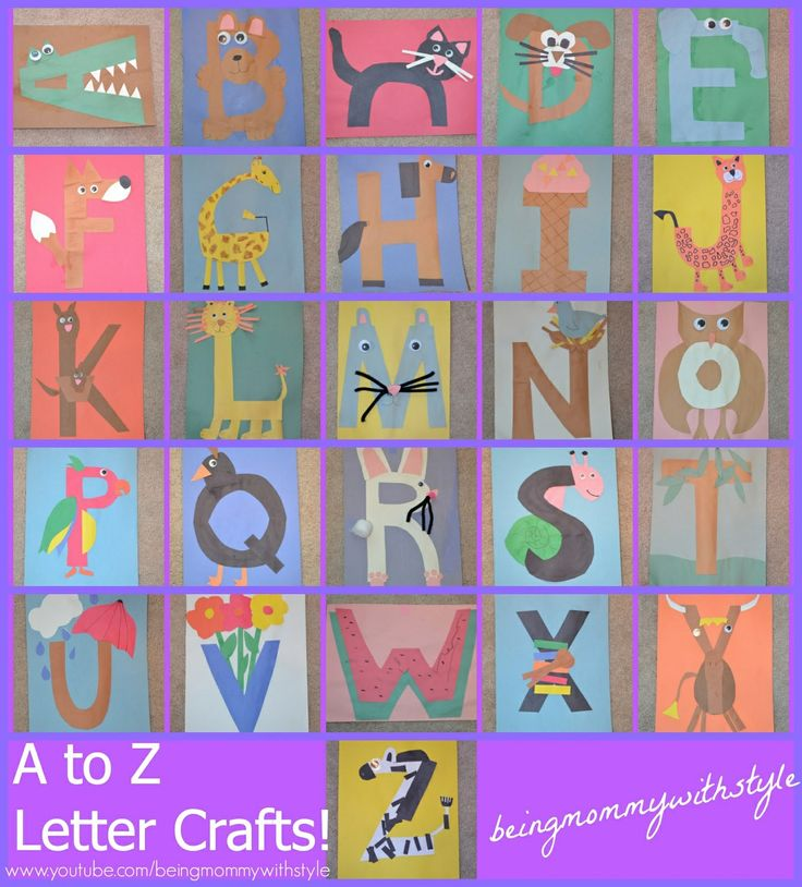 60 Best Images About #Alfabet #Letters #Craft #Ideas On