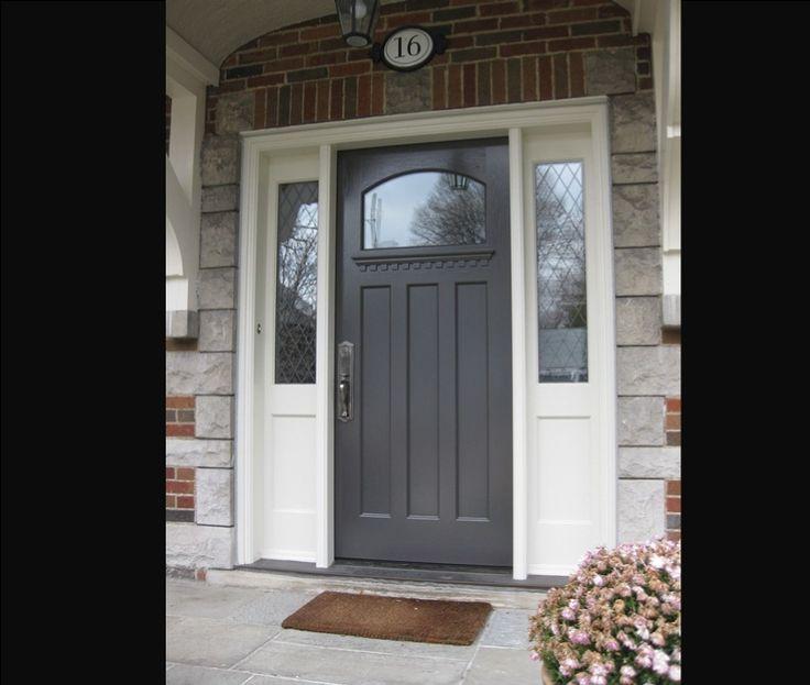 Doors Fiberglass Front Door With Sidelights And