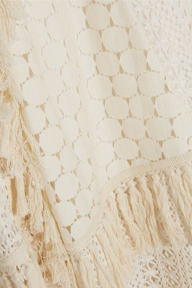 See by Chloé - Tasseled Crocheted Lace Skirt - Off-white - FR
