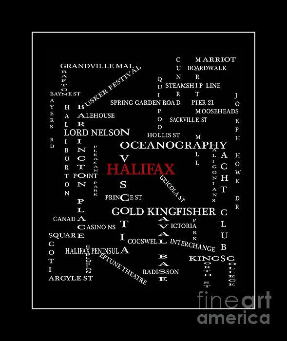 Halifax Nova Scotia Crosswords Red by Barbara Griffin - Halifax Nova Scotia Crosswords Red Digital Art - Halifax Nova Scotia Crosswords Red Fine Art Prints and Posters for Sale