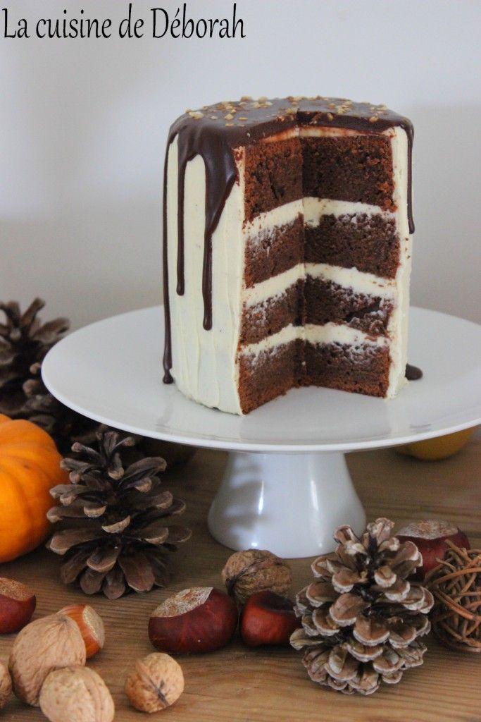 Gateau anniversaire chocolat blanc et noir