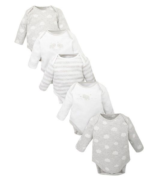 Sheep Bodysuits - 5 Pack http://www.parentideal.co.uk/mothercare---baby-clothes.html