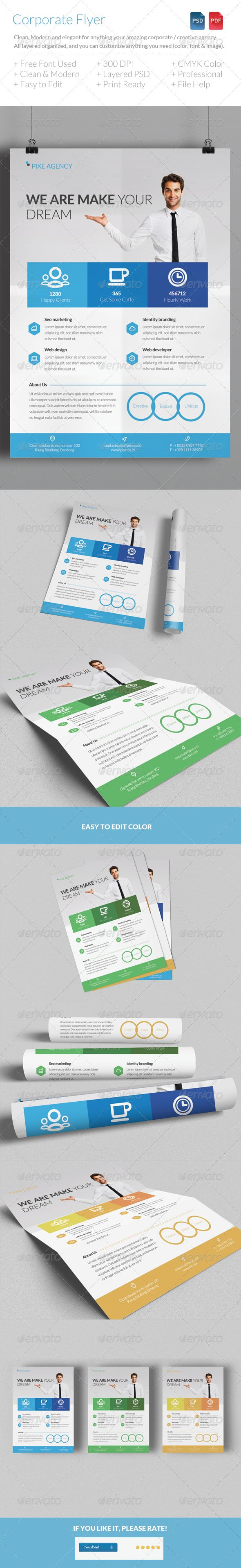 Clean & Modern Corporate Flyer Template - Corporate Flyers