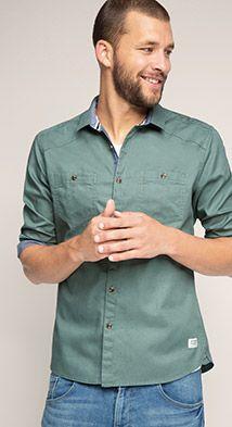 Esprit / Finely textured shirt, 100% cotton
