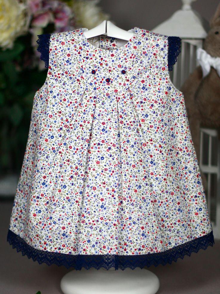 Vestido liberty marino Paz Rodriguez de Bebe | Les Bébés