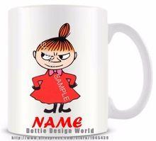 Personalisierte Hot Cartoon moomin wenig meine lustige Neuheit-Reisebecher Ceramic white Kaffee Tasse Tee kundenspezifische Geburtstags-Weihnachtsgeschenke (China (Festland))