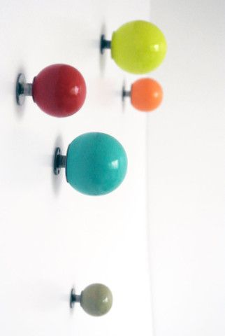 Colorful Knobs/ Wall Hooks / Wall Organizer / Childrens Knobs / Coat Hanger