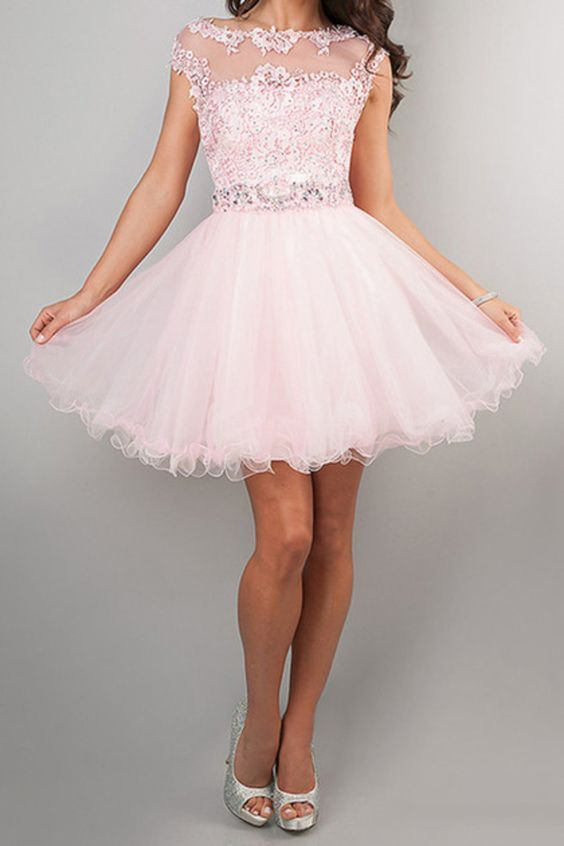 2014 Clearance Homecoming Dresses Pink Size 4&12 Cheap Under 50 Xin2326 USD 49.99 LDPK71BAX8 - LovingDresses.com: