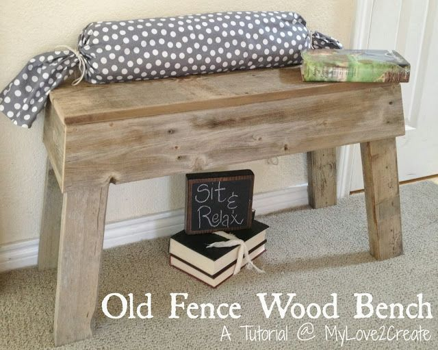 Uses for Old Fence Boards | Old Fence Wood Bench
