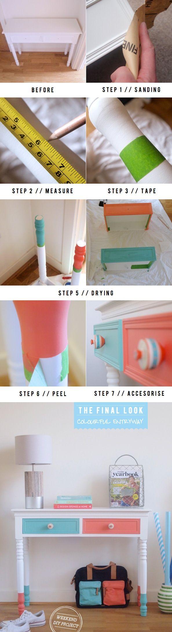 Dipped furniture DIY tutorial on Bright   DiyReal.com