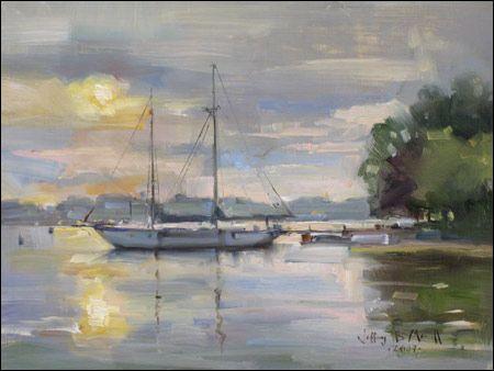 Acrylic Canvas Painting Called Serenade