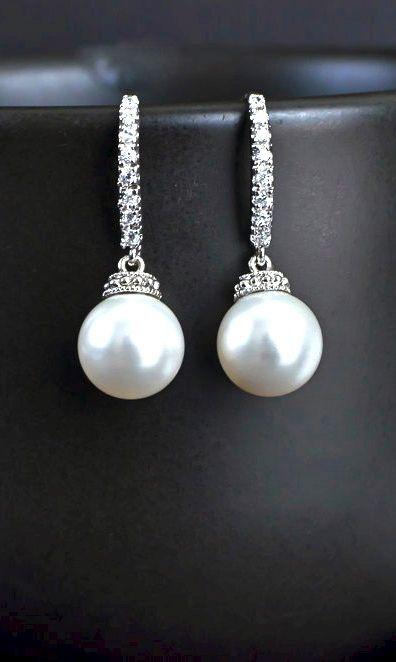 Bridal Earrings, Bridal Pearl Earrings