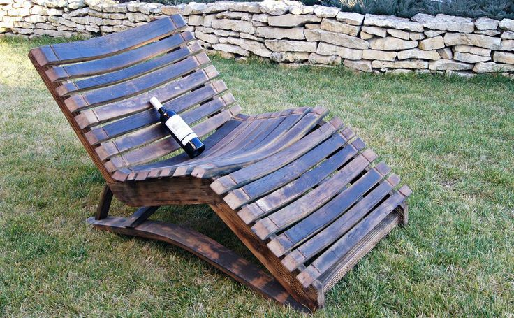 Wave Wine Barrel Deckchair • WOO Design