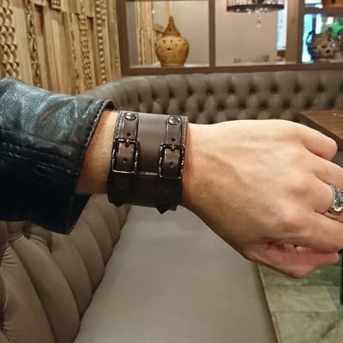 wesome kickass leather bracelet cuff by SixC Nomad of Sweden