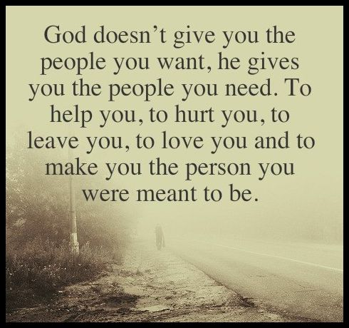 God doesn't give you the