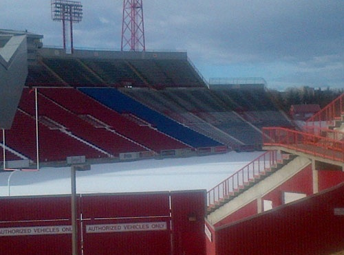 McMahon Stadium on Feb. 1, waiting on the start of the 2013 season
